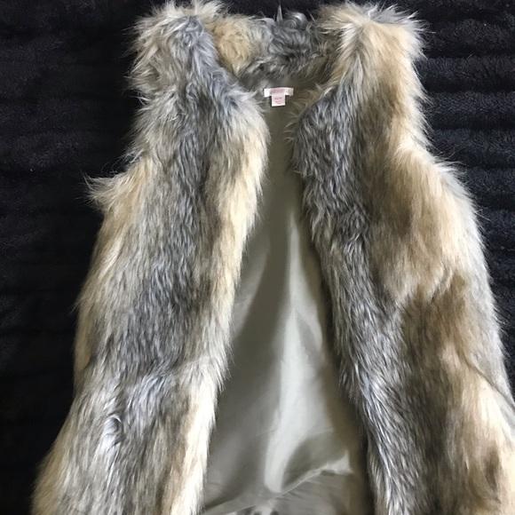 Xhilaration Jackets & Blazers - Faux Fur Sleeveless Coat